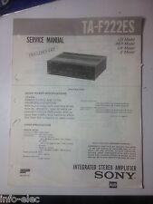 Schema SONY - Service Manual Integrated Stereo Amplifier TA-F222ES TAF222ES