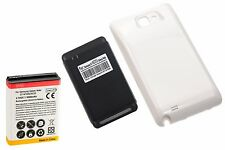5000mAh Extended Battery + Cover + Charger for Samsung Galaxy Note 1 i9220 White
