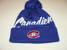 Montreal Canadiens Hockey Cap Hat Beanie Pom Toque Mitchell Ness Double Up NHL
