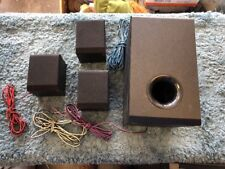 Lot Of 4 RCA RTD980 Surround Sound Bookshelf Speakers And Subwoofer Clean Workin