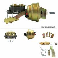 "1958-64 Chevy Bel Air FW Mount Pwr 8"" Dual Diaphragm Brake Booster Kit Disc/Drum"