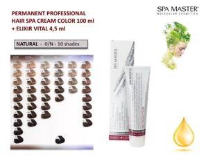 PERMANENT PROFESSIONAL HAIR CREAM SPA COLOR 100ml SPA MASTER - NATURAL
