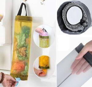Plastic Carrier Bags Holder Dispenser Storage Hanging Store Kitchen Organizer UK