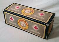 VINTAGE JOHNSON & JOHNSON 1 LB PROFESSIONAL SIZE RED CROSS COTTON FIRST AID
