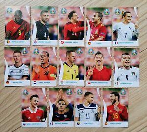 Coca Cola Sticker Komplett Set C1 - C14 Kroatien ( Dzeko 13 und Ramos 14) - RARE