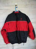 vtg 90s 00s starter Red medium coat windbreaker jacket REF A5