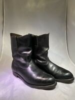 RED WING vintage Black Leather Pull on Work Western Motorcycle Boots Men Sz 9 E