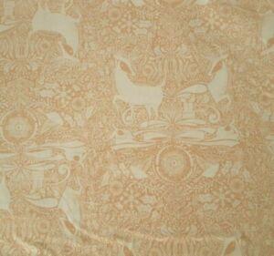 I Love Christmas BTY Cori Dantini Blend Fabrics White Reindeer Deer Damask Brown