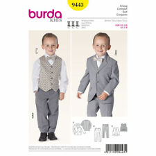 Burda Kids SEWING PATTERN 9443 Toddlers/Boys 3 Piece Suit Age 2-8