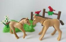 Playmobil Farm/Stables extras: Light brown foals/young horses, grass & fence NEW
