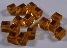 50pcs square cube glass loose spacer beads crystal charm