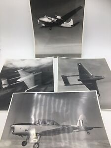 Four 1950s De Havilland Aircraft Photographs, Venom, Vampire, Heron, Chipmunk