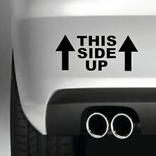 THIS SIDE UP 4x4 BIKE SAFETY  CAR BUMPER STICKER VINYL DECAL JDM  4X4 FUNNY