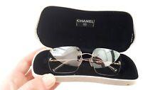 CHANEL vintage CC Logo rimless frameless grey gradient sunglasses