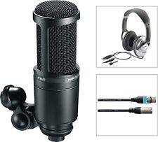 Audio Technica AT 2020 Studio Kondensator Mikrofon SET mit Kopfhörer + Kabel