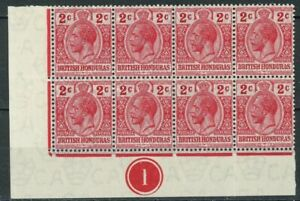 s586671 British Honduras - Sc#76 Hinged Block of Eight