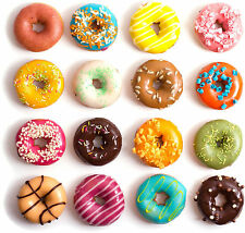 """Poster 19"""" x 13"""" Flavored Donuts"""
