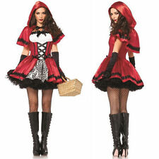 Little Red Riding Hood Sexy Ladies Costume Storybook Fairytale Halloween Cosplay