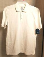 George Mens White Polo S/S Work Golf Button Shirt XS S M L XL XLT 2XL 3XL NWT