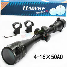 4-16x50AO Rifle Scope Red Green Illuminated Sight IR Reticle 1/4 MOA For Hunting