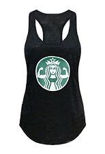 Tough Cookie's Women's Starbucks Parody Workout Girl Burnout Tank Top