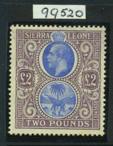 1912-21 Sierra Leone £2 SG 129 Mint NH Cat £950