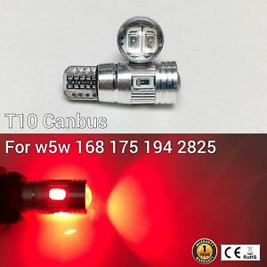 T10 194 168 2825 12961 License Plate Light Red 6SMD Canbus LED M1 For Cadillac A