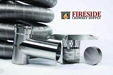 "4 ""x  20' 304 Stainless Steel Flexible Chimney Liner Pellet Tee Kit .006 Thick"