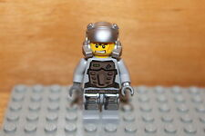 Lego Power Miners - Doc Figur in silber grau, Minen Arbeiter Figuren Set 8191