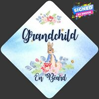 Non Personalised Child/Baby On Board Car Sign ~ Peter Rabbit Grandchild On Board