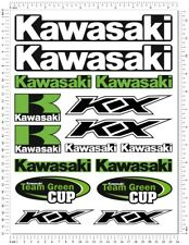 Kawasaki KX 85 100 125 250 Decals Laminated 16 Stickers Set KXF Green KX 125
