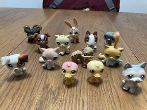 littlest pet shop lot of 13 assorted pets