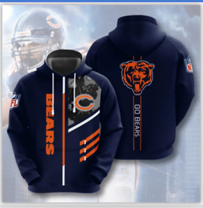 Chicago Bears Men's Pullover Hoodies Hooded Sweatshirts Casual Jackets Fans Gift