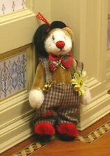 """Ganz Cottage Collectibles 3"""" Mini Plush Bear Clown - Signed by Mary Holstad"""