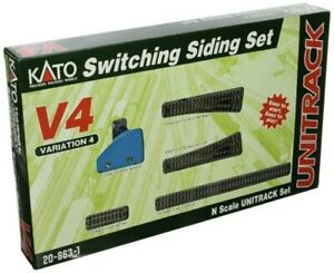 Kato 20-863-1 N Scale V4 UNITRACK Switching Siding Set
