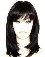 Women's Short Straight Black Synthetic Hair Wig Crossdresser