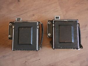 2 x Graflex Speed Graphic film cameras Kalart Etkar 127mm Medium format press