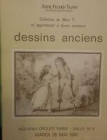 1981 Catálogo De Venta Demuestra Drouot Dibujos Antiguos