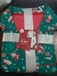 Family PJ's Women's 2-Piece Pajama Set, Red/Green large