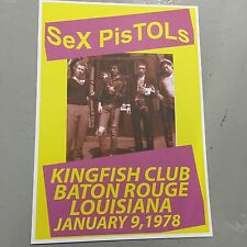 SEX PISTOLS - CONCERT POSTER KINGFISH CLUB LOUISIANA 9TH JANUARY 1978 (A3 SIZE)