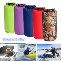 8L Waterproof Storage Dry Sack Bag For Kayak Camping Canoeing Fishing Sailing US