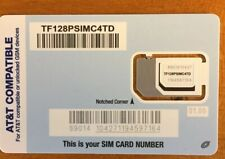 New listing Tracfone Sim for At&T / Unlocked Gsm Phone (Read Description for compatibility)