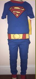 Superman Boys' Blue And Red 2 Piece Pajama Set