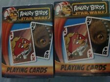 2 ANGRY BIRDS STAR WARS PLAYING CARDS!  SEALED PACKAGE! STOCKING STUFFERS!
