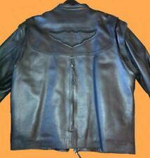 Harley Davidson XL Willie G Leather Convertible Jacket / Vest w Liner 98515-99VM