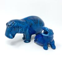 Metropolitan Museum Of Art William The Hippo Reproduction Egyptian Blue Set of 2