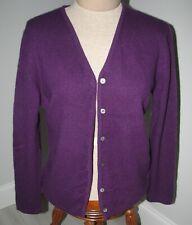 100% CASHMERE women's cardigan purple sz M