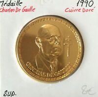 Médaille - Charles De Gaulle - 1990
