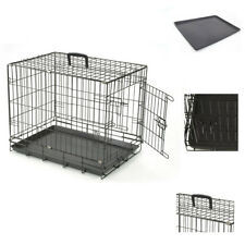 "Heavy duty 36"" Folding Pet Dog Puppy Cat Training Cage Crate Carrier UKED"