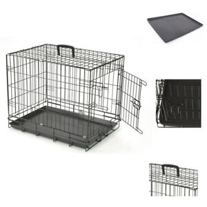 """Heavy duty 36"""" Folding Pet Dog Puppy Cat Training Cage Crate Carrier UKED"""